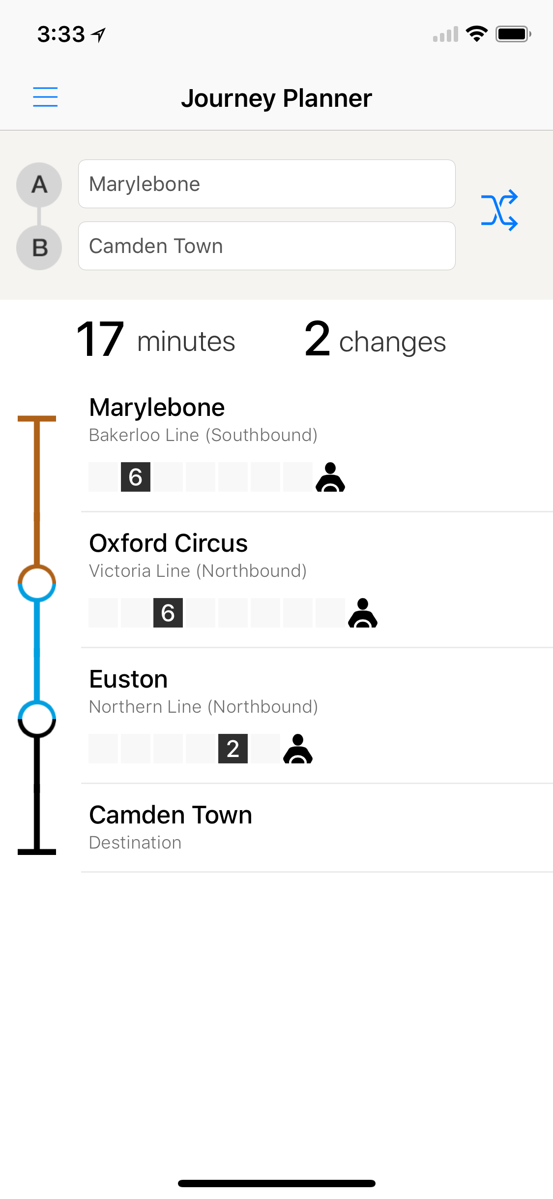 London Tube Live Screenshot
